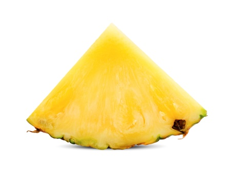 pineapple slice isolated on white Stock Photo