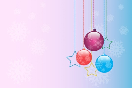good-looking Christmas backdrop with three balls and stars