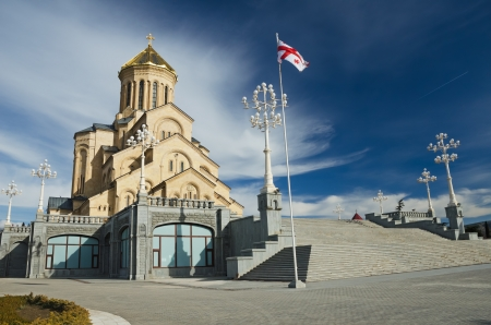 Holy Trinity cathedral in Tbilisi, capital of Georgia Stock Photo