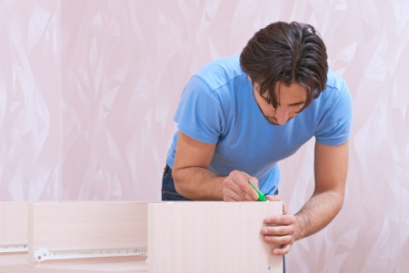 carpenters of furniture glues details Stock Photo - 19379631