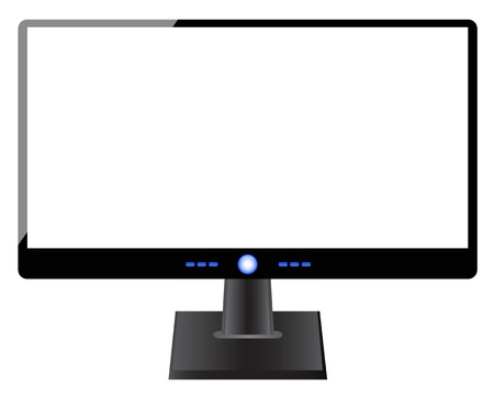 blank computer screen: Blank computer screen on white background Illustration