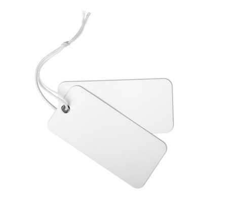 labelling: blank price tag isolated on a white background
