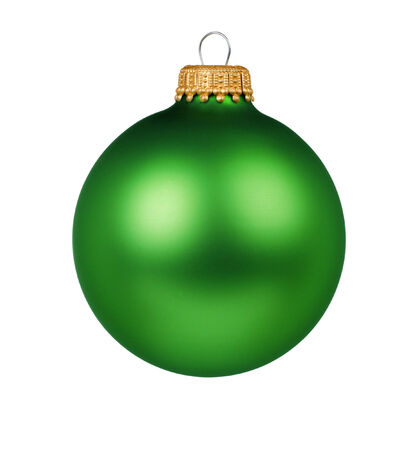 green ball decoration for a Christmas tree