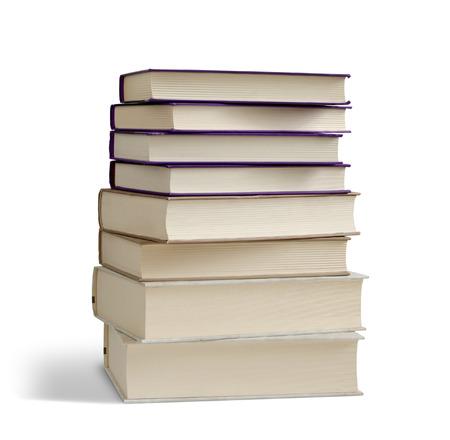 Books pile isolated on white  Stock Photo