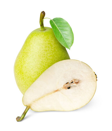 ripe juicy pear isolated on white backgroundpear isolated on white background