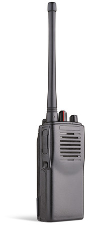 two-way radio on white
