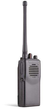 short wave: two-way radio on white