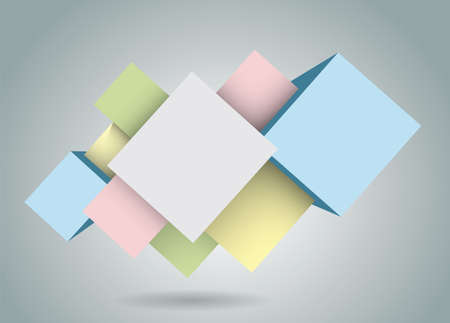 abstract rhombic figures for use in web design for info graphics Vector