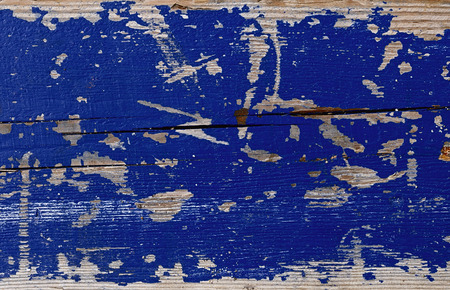 old and worn wooden background painted with blue paint for the background image
