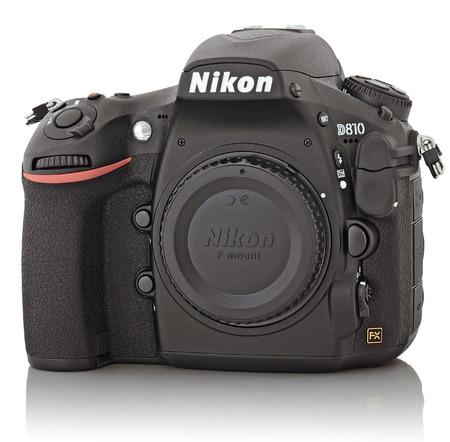 sensitivity: SOCHI, RUSSIA - OCTOBER 06, 2014: Nikon D810 camera body, the first digital SLR camera in Nikons history to offer a minimum standard sensitivity of ISO 64.