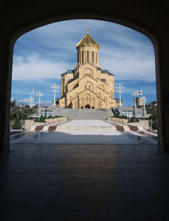 sacred trinity: Holy Trinity cathedral in Tbilisi, capital of Georgia Stock Photo