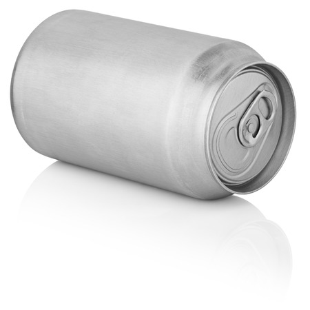 330 ml aluminum can isolated on white background with clipping path Stock Photo