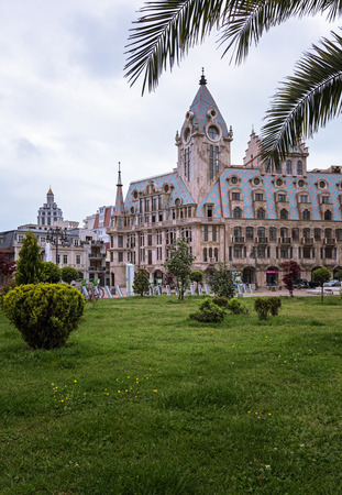BATUMI, GEORGIA - APRIL 12: Buildings and facades  on April 12, 2016 in Batumi, Georgia. Editorial
