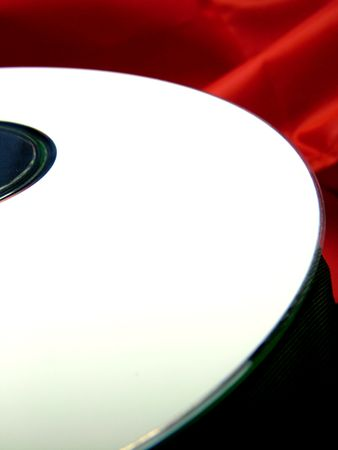 rom: A DVD ROM disc with white copy space.