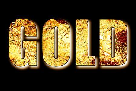 lingotes de oro: Palabras de oro en 3D lleno de oro en lingotes y barras de aluminio de color negro sobre fondo sombreado