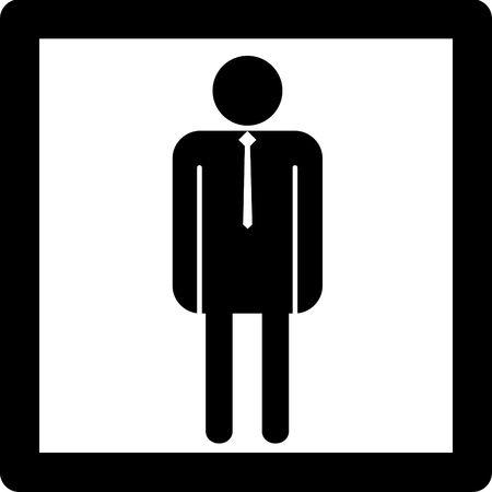 Hombre símbolo icono de la entrada en concepto de baño u otro lugar para los hombres. Foto de archivo - 4538276