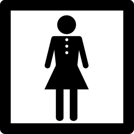 Mujeres símbolo icono de la entrada en concepto de baño u otro lugar para las mujeres. Foto de archivo - 4538277