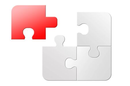 unsolved: Red and white no success 3d jigsaw puzzle unsolved