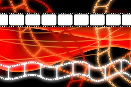 movie film reel: Tira de carrete de pel�cula pel�cula antigua Foto de archivo