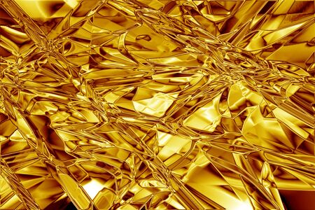 Gold foil abstract crinkled texture Stock Photo