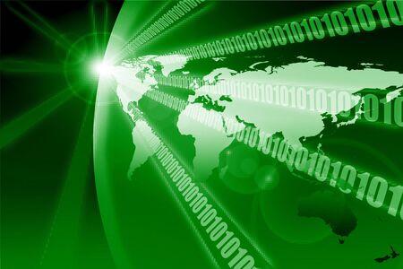 Binary digital planet earth Stock Photo