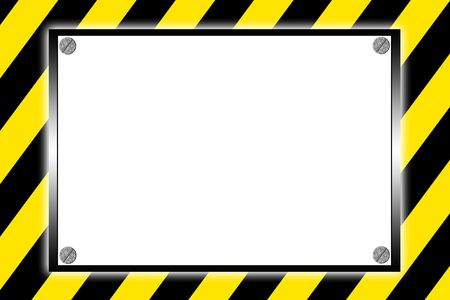 Striped caution hazard sign photo