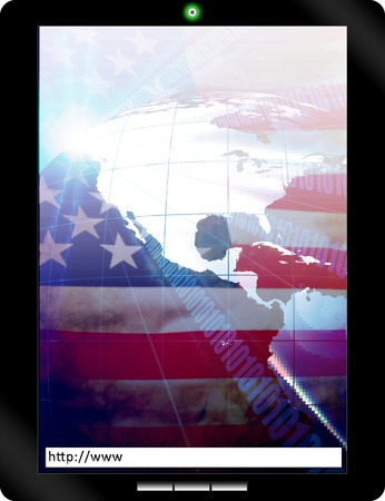 Tablet PC with USA flag technology