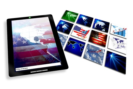 Tablet PC with business internet web pages
