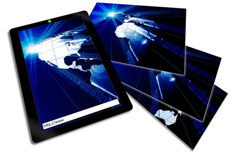 A wireless tablet notebook with business technology