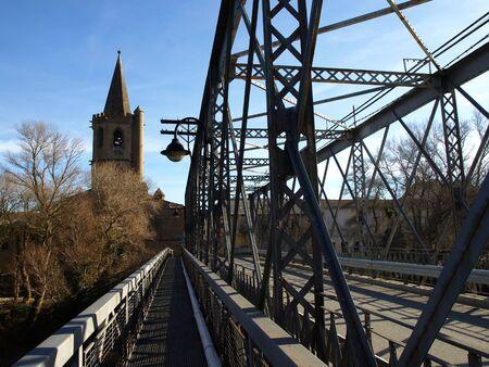 mingle: Iron Bridge Over Aragon River