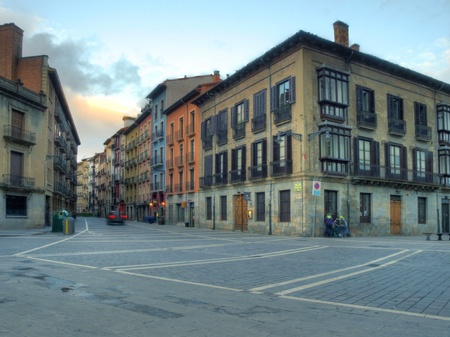 New Street in Pamplona Stock Photo - 13341545