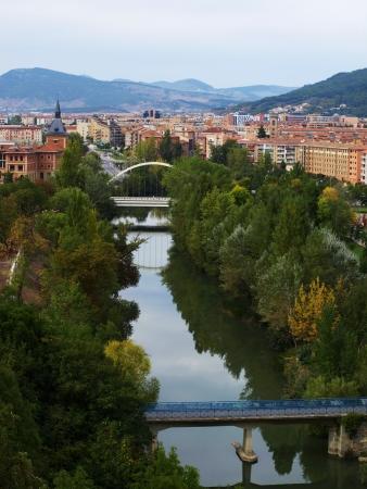 Arga River across Pamplona 01 Фото со стока