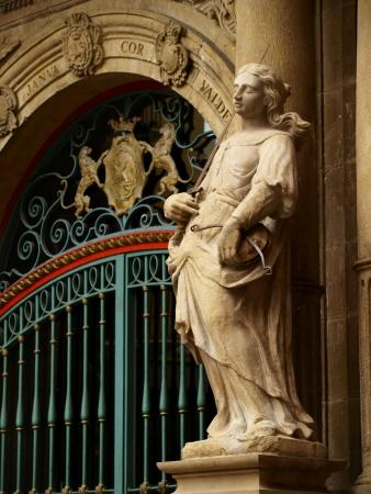 council: Statue City Council Stock Photo