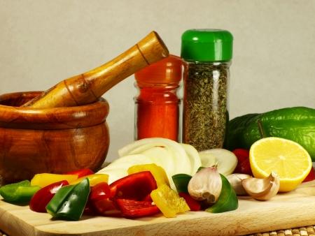Ingredients on White background Reklamní fotografie
