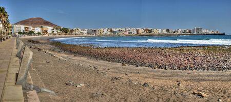 Panoramic view of Arinaga Beach, Spain