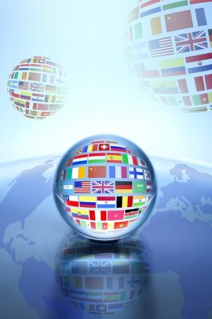 commerce communication: Communication World, Global Commerce  Stock Photo