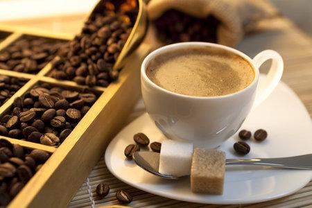 alimentary: tasting coffee  Arabica Coffee, Brazilian Coffee, Coffee Kenya, Colombian Cofee, roasted coffee, Costa Rica Coffee, Ethiopian coffee, Coffee of Jamaica, Indonesian Coffee, coffee mocha Stock Photo