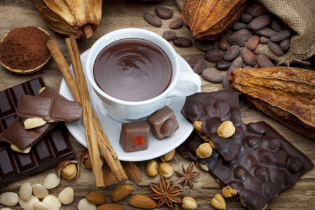 hazelnut: cup of chocolate Stock Photo