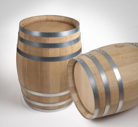 Wine barrels. Made of French oak. photo