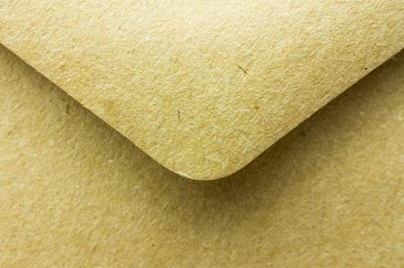 old envelope: Old paper envelope open. Close up