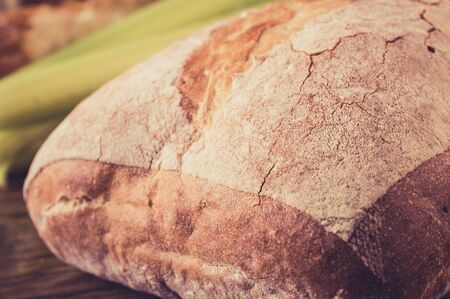 ciabatta: Loaf of traditional Italian bread ciabatta for background