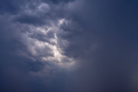the lumen: Cloud in the sky before the storm with little lumen