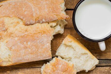 al: Ciabatta al latte bread and milk