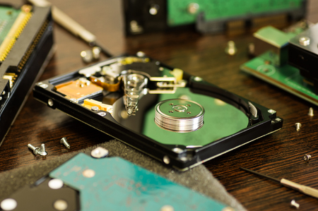 dismantled: Dismantled in home for self-repair hard disk