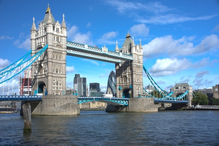 LONDON - SEPTEMBER 25.  Tower Bridge, one of the most iconic bridges over the River Thames, on September 25, 2012 in London, United Kindom.