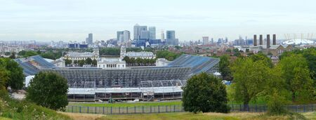 Panoramic view of London City from Greenwich photo