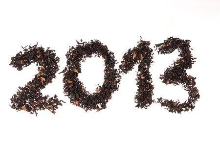New Year 2013 on tea leaves photo