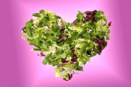 escarole: A heart of green salad  corn salad, escarole and radicchio  suggesting love and health