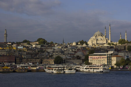 ISTANBUL - August 30, 2014.  View of Istanbul, the largest city of Turquey, from the Bosforus waterway. On August 2014 in Istanbul, Turkey.