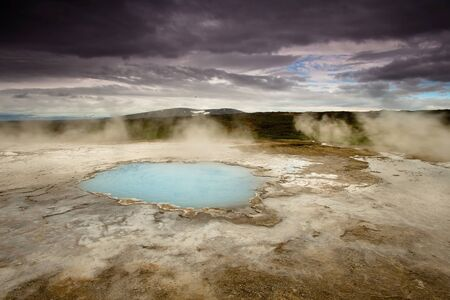 The hot springs of Hveravellir provide a warm oasis of cold middle of Icenald